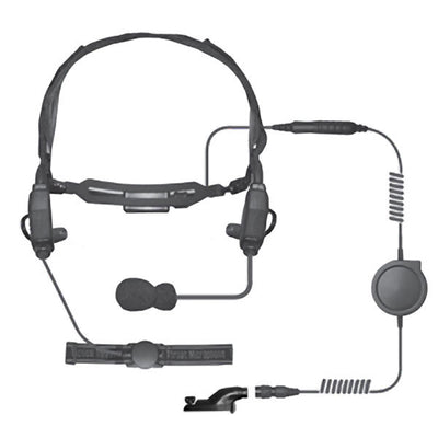 The Ear Phone Connection Crane Extreme Tactical Headset, W/ Bone Conductor Speakers, Wireless PTT