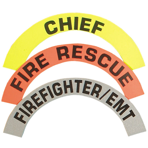 Visual Image Systems Reflective Crescent Fire Helmet Decals, Pair