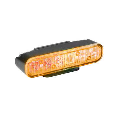 Whelen ION Series Super-LED® Universal Light, Universal Mount, Scan-Lock Flash Patterns And  4-Wire Pigtail, Black Housing