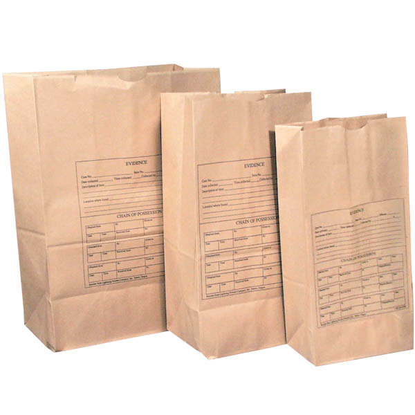 Forensics Source (100/Pk) Lightning Powder Printed Paper Evidence Bags