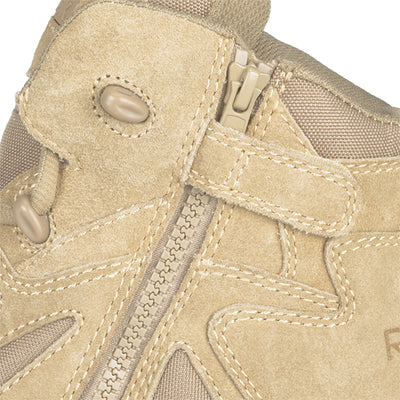 "Reebok Boots Rapid Response 6"" Side Zip Composite Toe Boot, Desert Tan"