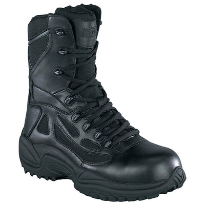 "Reebok Boots Women'S Rapid Response 8"" Waterproof Side-Zip Boots, Black"