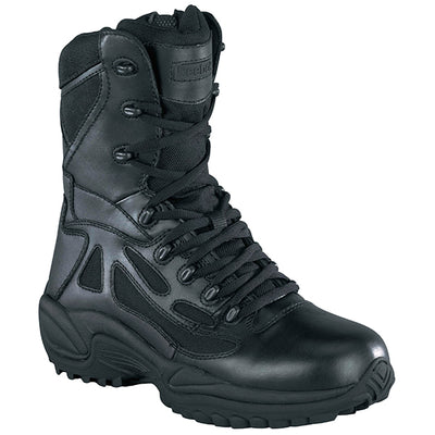 "Reebok Boots Rapid Response 8"" Side-Zip Boots, Black"