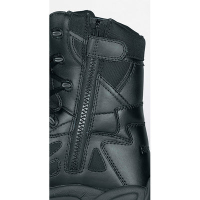 "Reebok Boots Women'S Rapid Response 8"" Safety Toe Side-Zip Boots, Black"