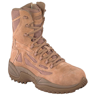 Reebok Boots Women'S Rapid Response Composite Toe Side-Zip Boots, Desert Tan