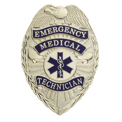 "Smith & Warren Emergency Medical Technician Tear Drop Badge, 2-3/16"" x 3-1/16"" W56"