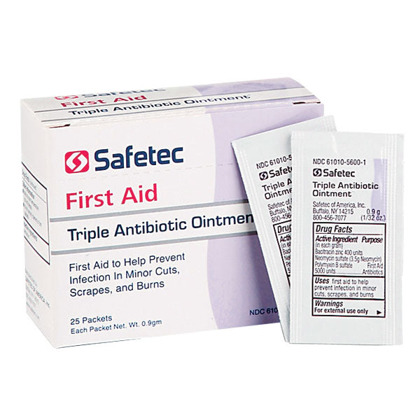 Safetec Of America Triple Antibiotic Ointment Pouches