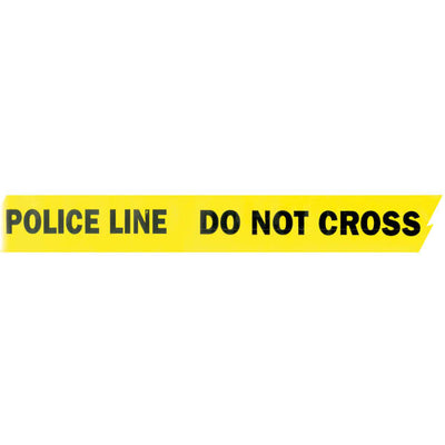 Presco Products 2.5-Mil All-Weather Barricade Tape, Yellow Or Red With Black Lettering