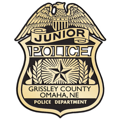 Stoffel Municipal Jr. Police Plastic Badge