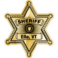 dbf2b00e0453 AD Concepts Custom Sheriff Stickers, 6-Point Star Foil Badge, Rolls Of 1,000