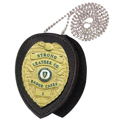 Strong Leather Company Recessed Id Badge Clip-On W/ Chain