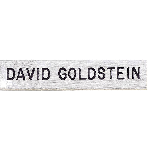 "V H Blackinton J1 Polished Name Plate, 2-1/2"" x 1/2"""