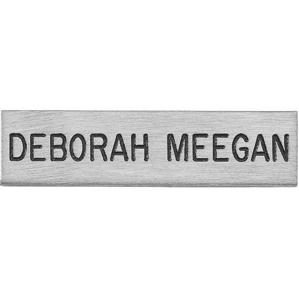"V H Blackinton J3 Name Plate, 2-1/2"" x 5/8"""