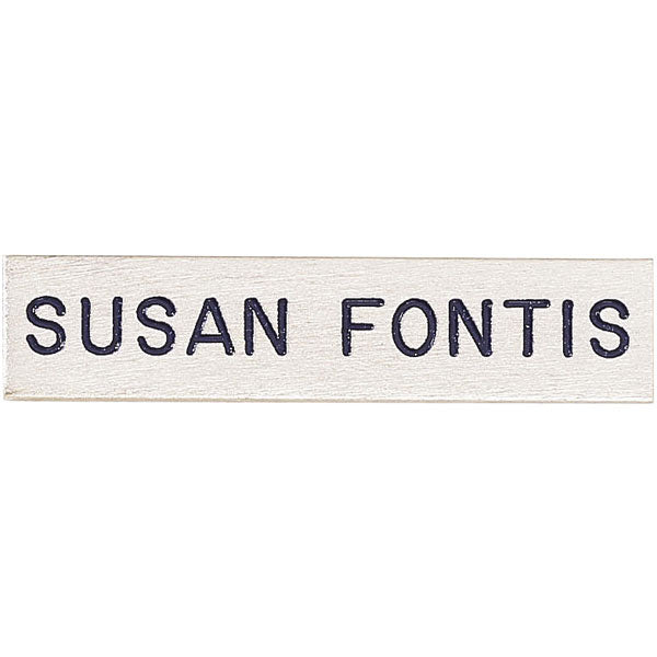 "V H Blackinton J4 Name Plate, 2"" x 3/8"""