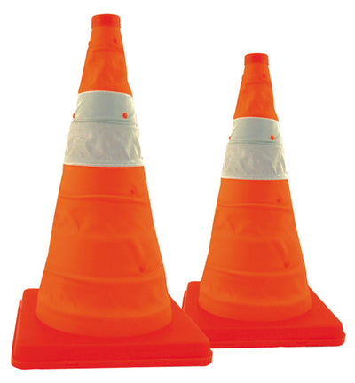 Cortina Safety Products Pack & Pop Traffic Cones W/ Light And Batteries