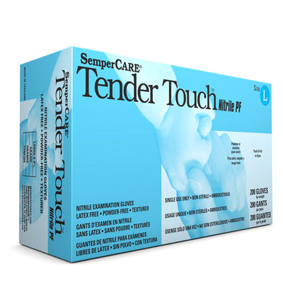 Sempermed Tender Touch Nitrile Gloves, Powder Free, Textured