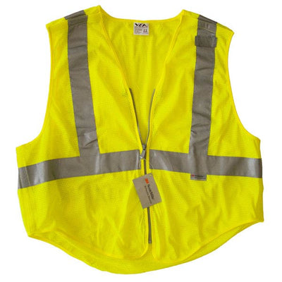 Reflective Apparel Public Safety 5-Point Breakaway Ansi 207 Vests, Lime Yellow, Clearance