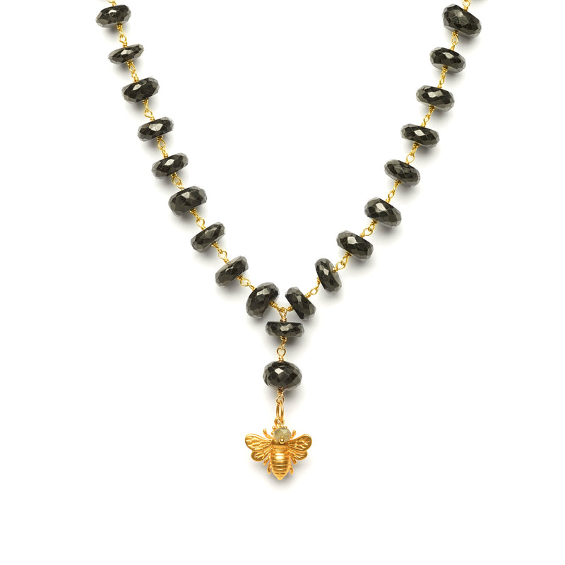Black Spinel Bee Necklace