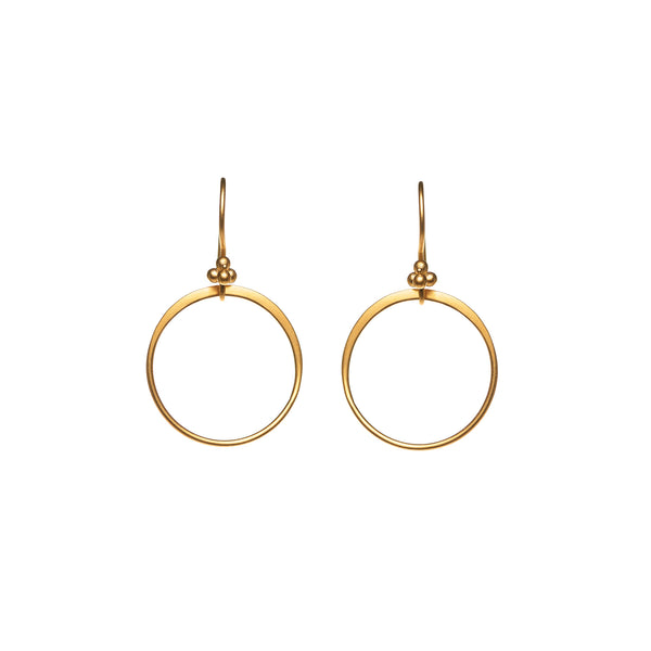 22 Gold filled Circle Drop Earring