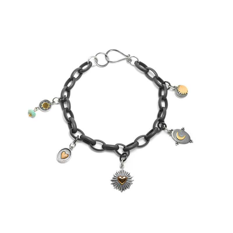 Sun, Moon, and Stars Oxidized Bracelet