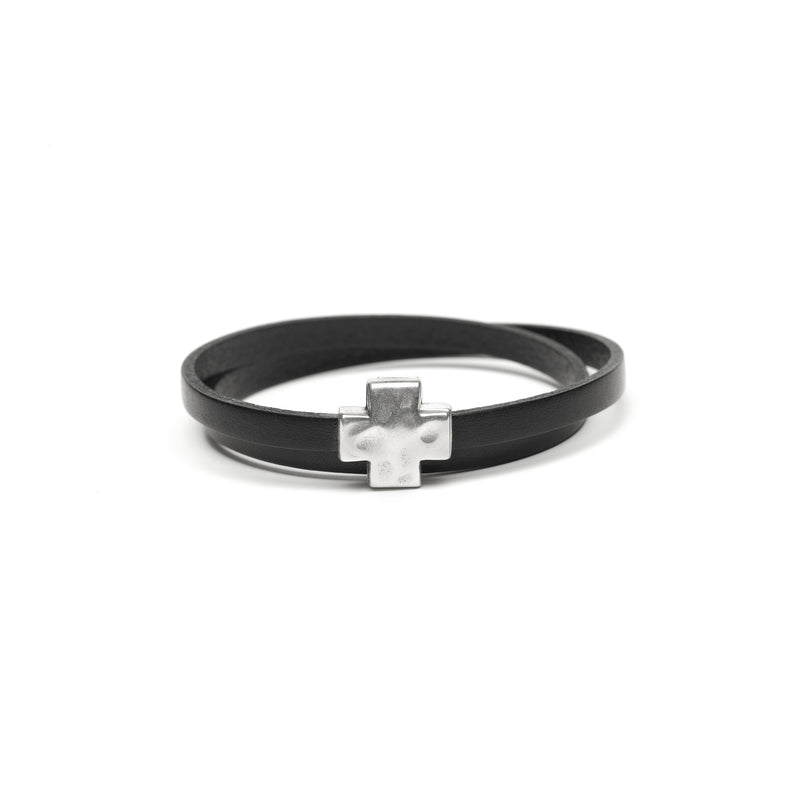 """Wrap it up"" bracelet with Silver Cross"