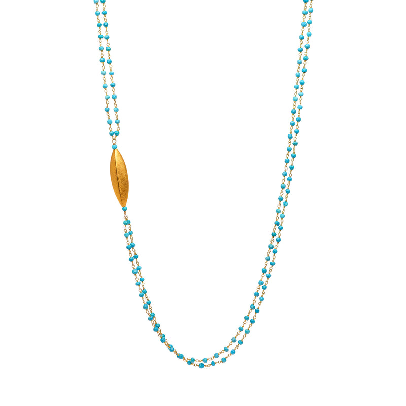Double Drop Turquoise Necklace