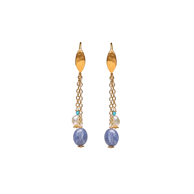 """Blue wave"" Tanzanite Drop Earrings"