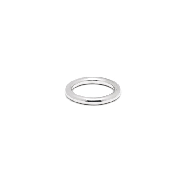 Single 3mm Round Band in Silver, High Polish