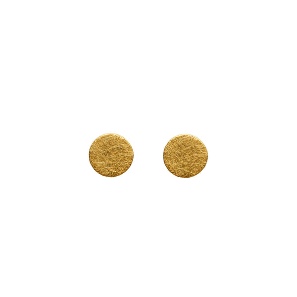 Small Gold Cylinder Earring