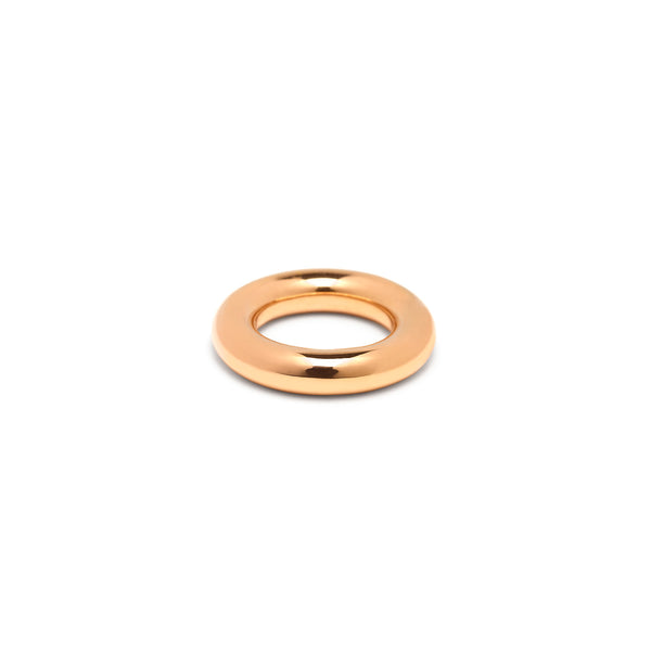 Single 6mm Round Band in Rose Gold, High Polish
