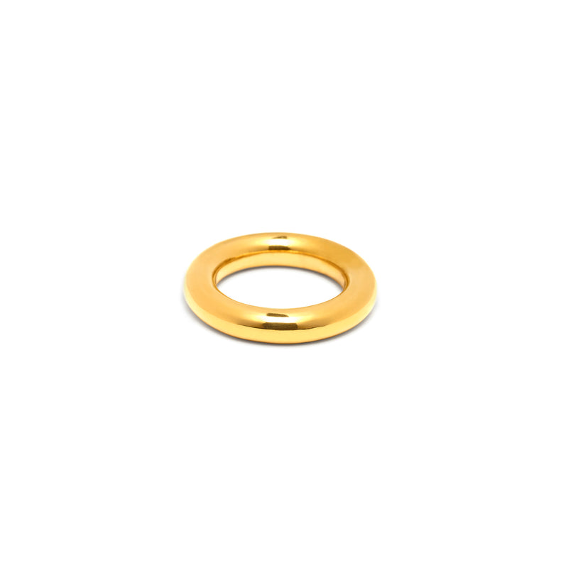 Single 6mm Round Band in Gold, High Polish