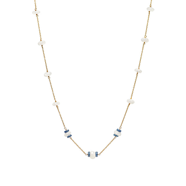 Moonstone and chain necklace