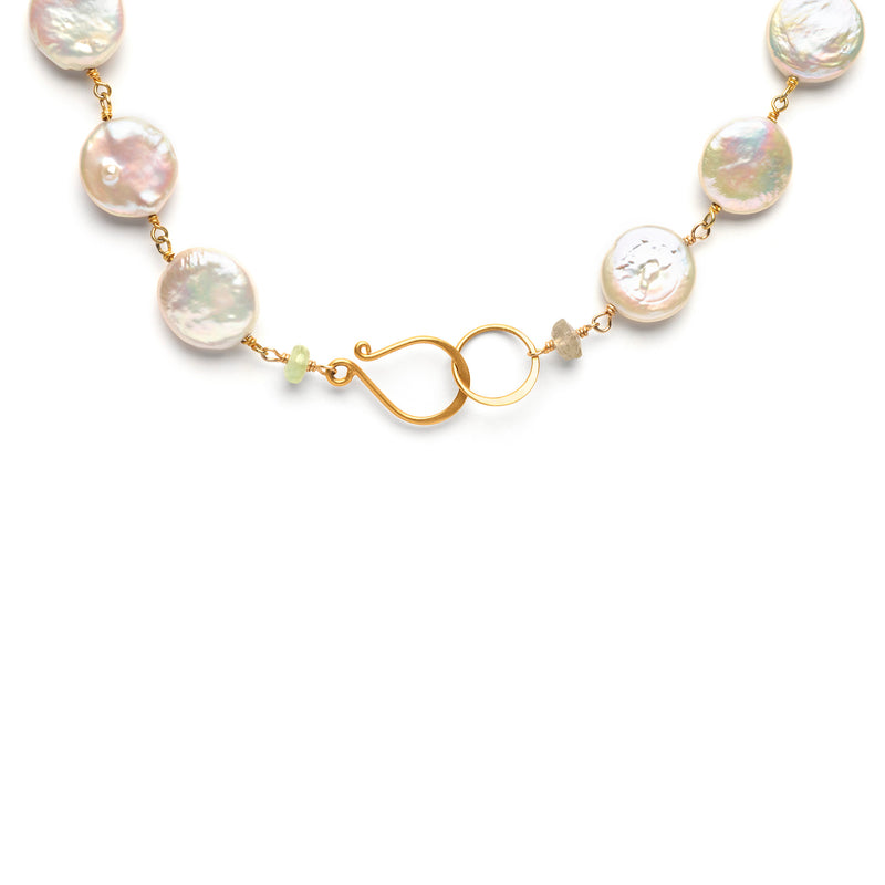 Pearl Necklace with Bee Charm