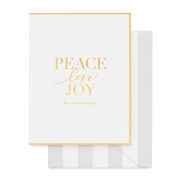 Peace Love Joy Card