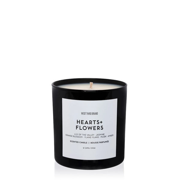 Hearts and Flowers Scented Candle