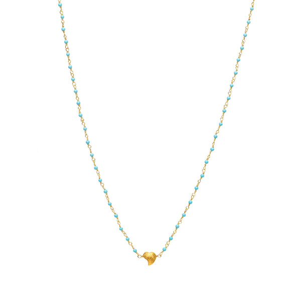 Heart Charm on Kingman Turquoise Necklace