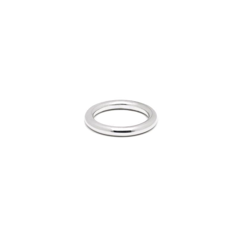 Single 4mm Round Band in Silver, High Polish