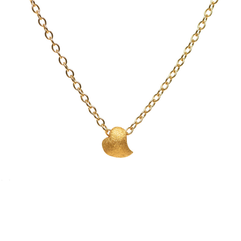 Heart on Gold Filled Chain