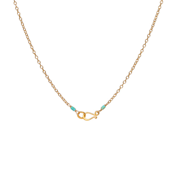 Bee Charm and Turquoise on Gold Filled Chain