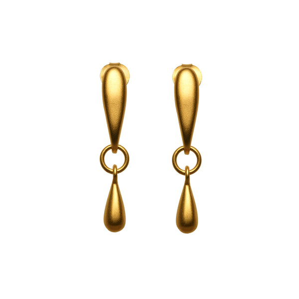 Gold Double Drop Earring