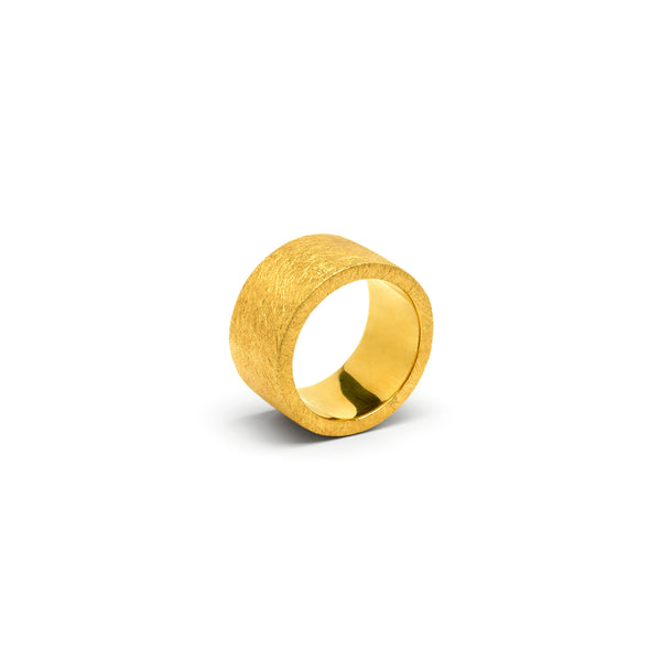 Gold Cylinder Ring