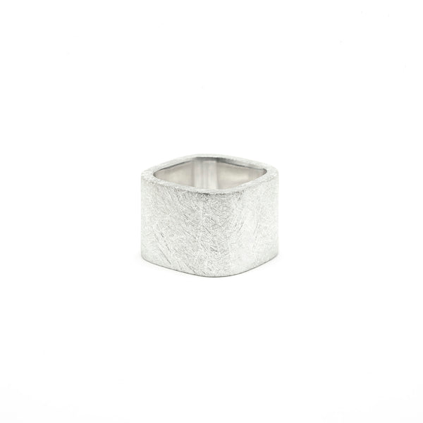 Dureco Silver Large Square Ring