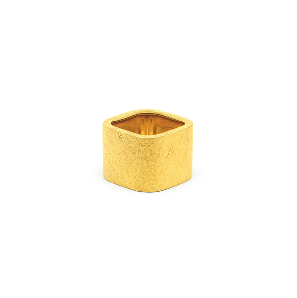 Dureco Large Gold Square Ring
