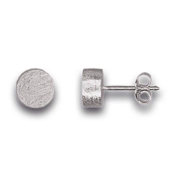 Small Silver Cylinder Earring