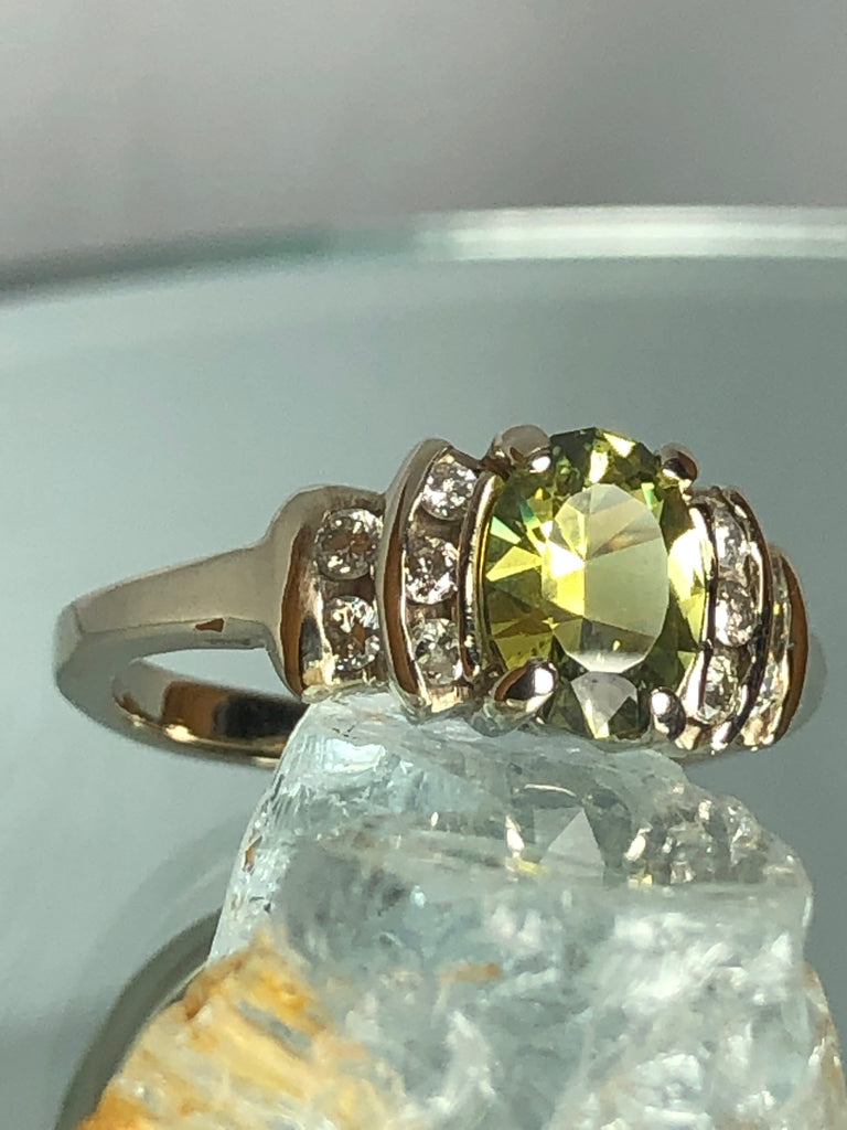 Yellow Sapphire and Diamonds
