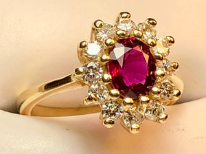 Natural Ruby with Diamonds