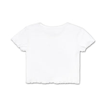 Daddy's Girl - Ruffled Crop Top - White