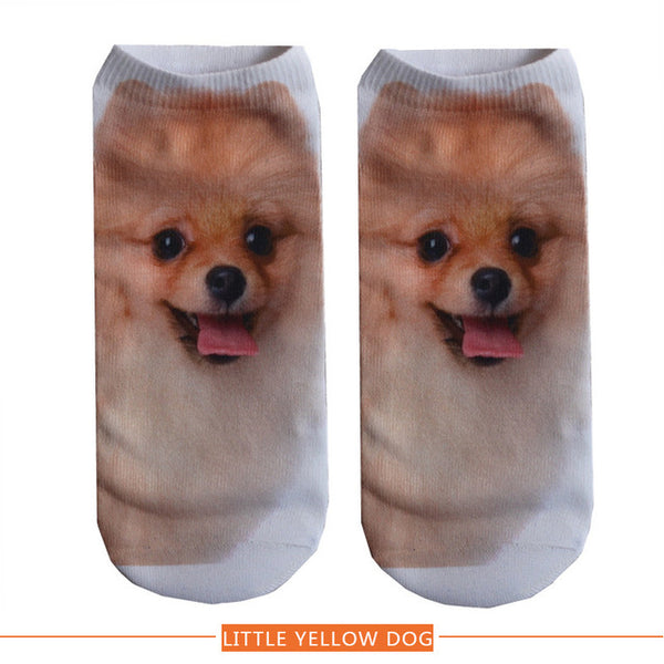 3D PRINTED CUTE DOG ANKLE SOCKS