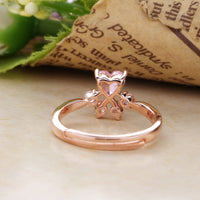 Sterling Silver Rose Gold Paw Ring