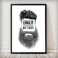 Beard Awesomeness - Typography Art Print - Rock Salt Prints